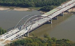Veterans Memorial Bridge over Missouri River