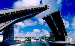 SW @d ave Bascule Bridge over Miami River